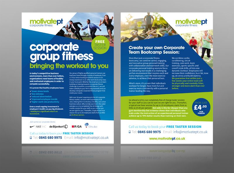 Corporate Fitness Gym Personal Trainer Leaflet Design Logo  Best