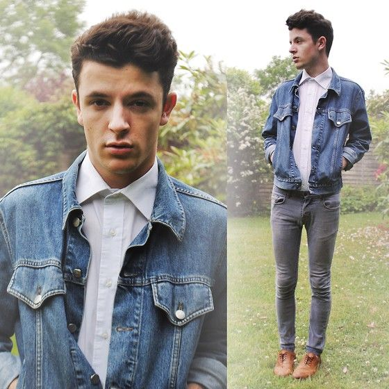 Giorgio Armani Denim Jacket, Charity Shop White Shirt, Topman ...