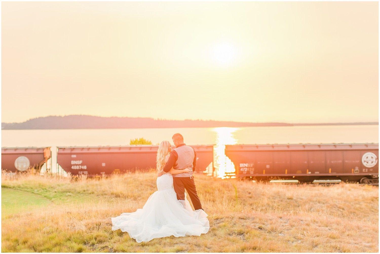 Chambers Bay Intimate Wedding Ulysses Danielle Sunset Wedding Photos Bay Wedding Intimate Wedding