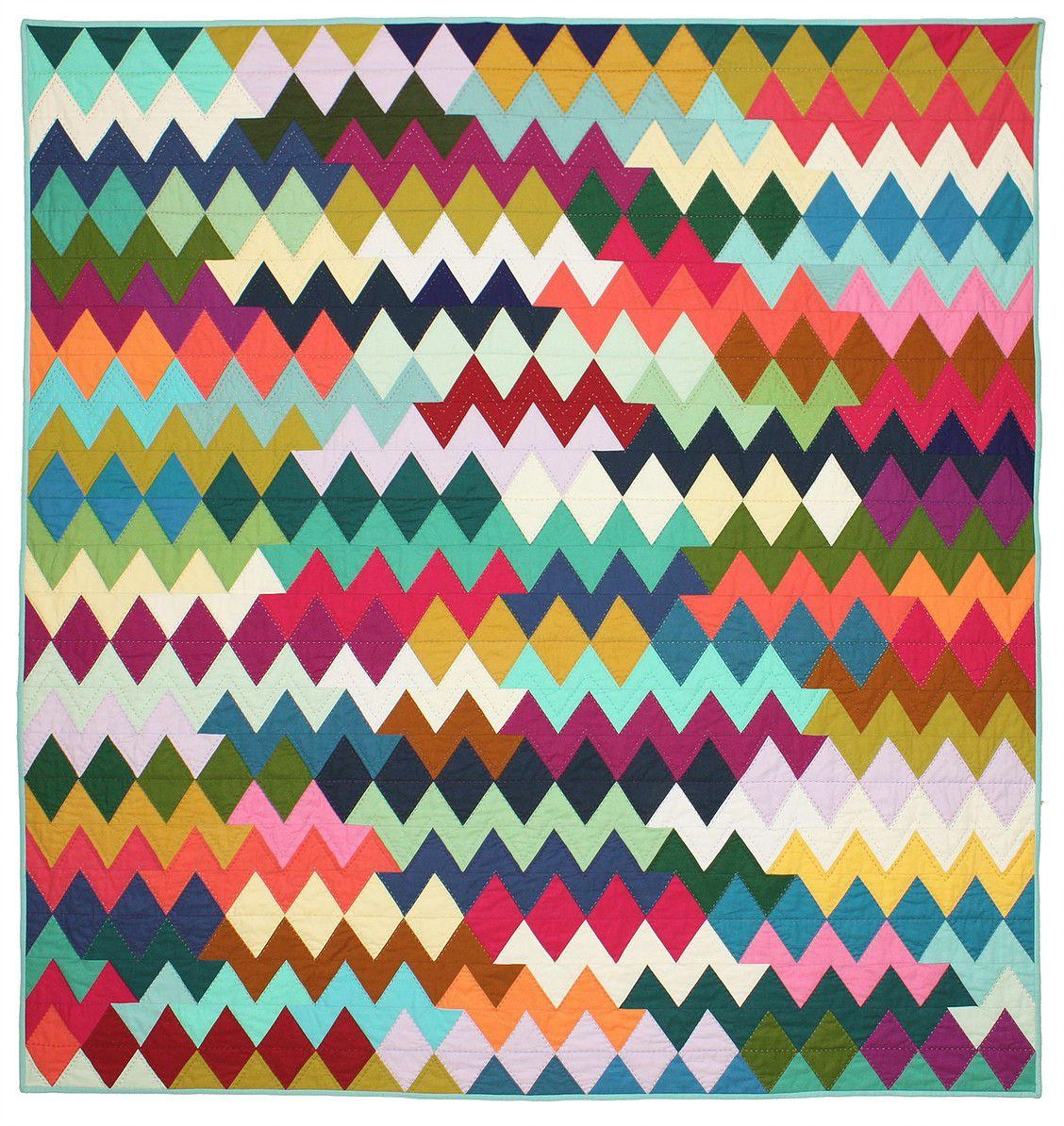 Zig Zag Quilt Baby Pinterest Zig zag Patchwork and Quilt modern