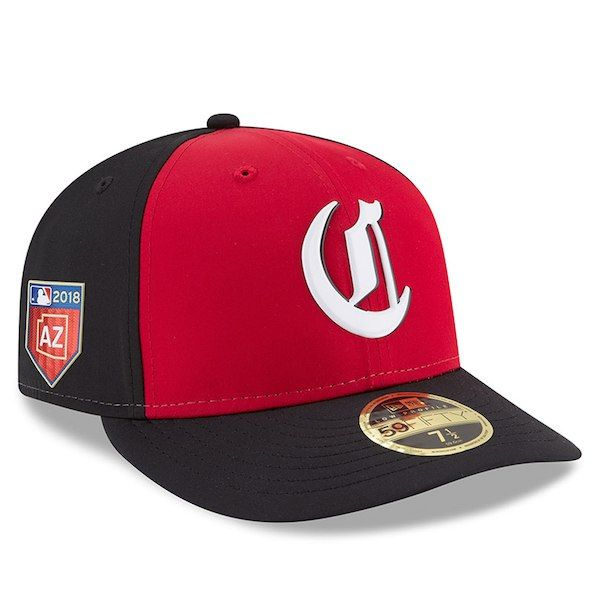 21057571d Cincinnati Reds New Era 2018 Spring Training Collection Prolight Low  Profile 59FIFTY Fitted Hat Red/