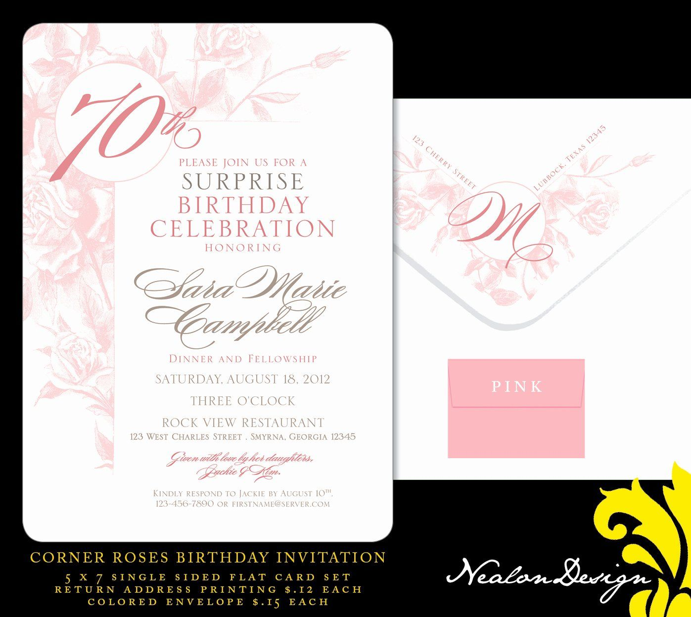 70th Birthday Party Invitation Wording Inspirational