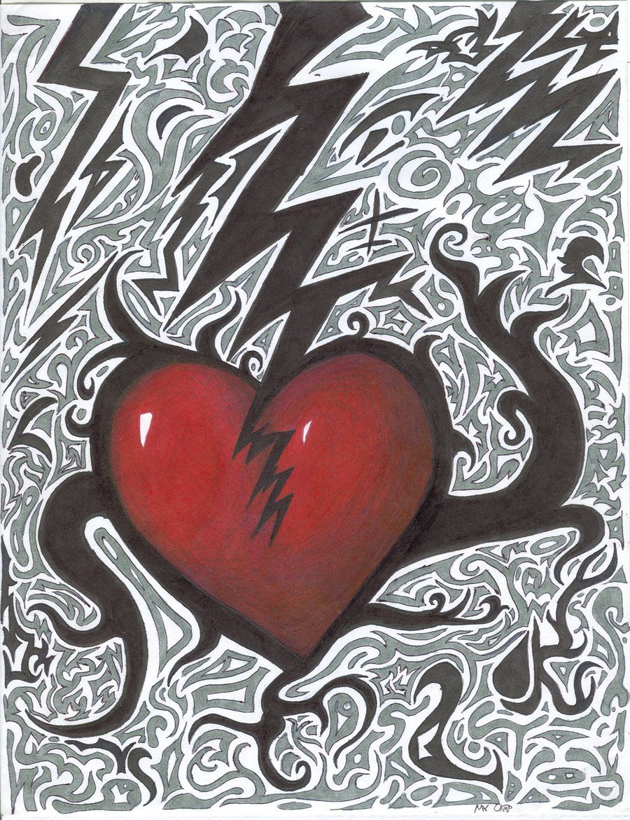 abstract heart drawings | Broken Heart Abstract by Mayzart ...