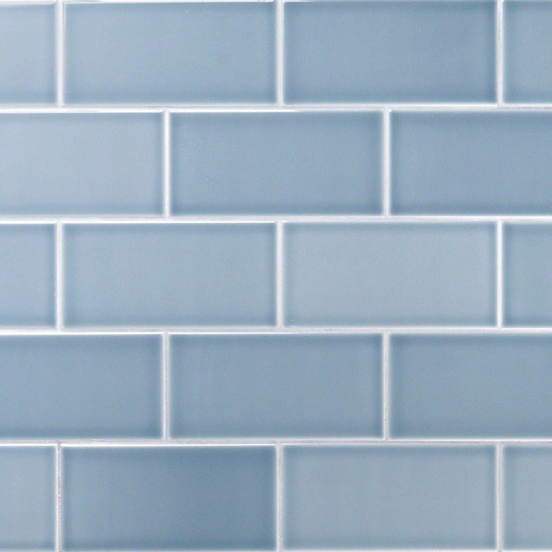 Vector Azul 4x8 Polished Ceramic Tile Ceramic Subway