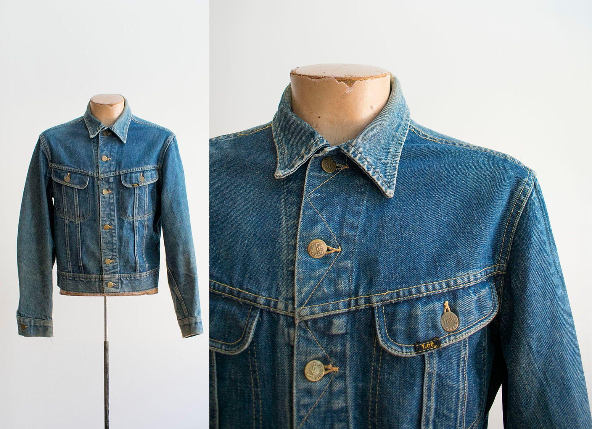 Vintage Denim Jacket Vintage Lee Denim Jacket Lee Jean Etsy Vintage Denim Jacket Denim Jacket Vintage Denim [ 1451 x 2000 Pixel ]