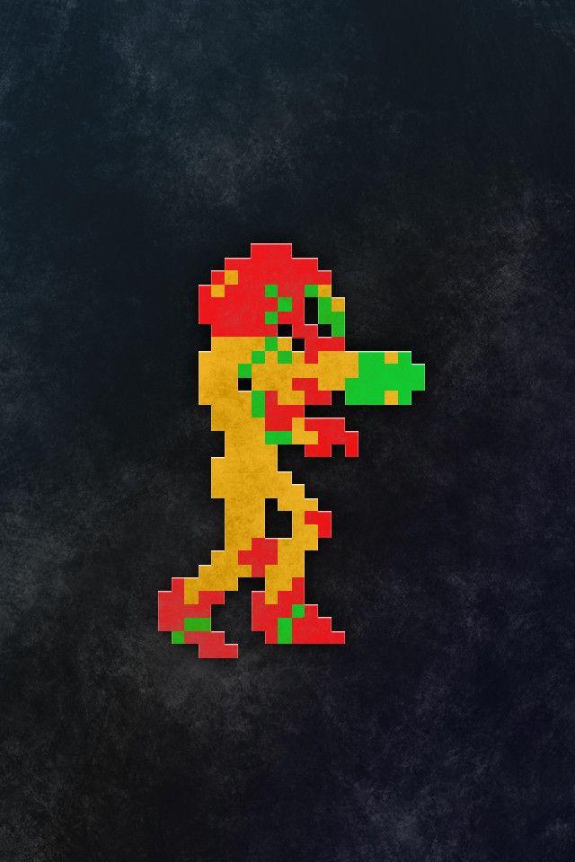 Grungy Retro Gaming Iphone Wallpapers Metroid Metroid Samus Samus