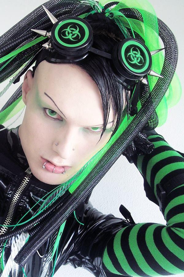 Cybergoth guy (Surgical-Steel) | Cybergoth, Cyber punk