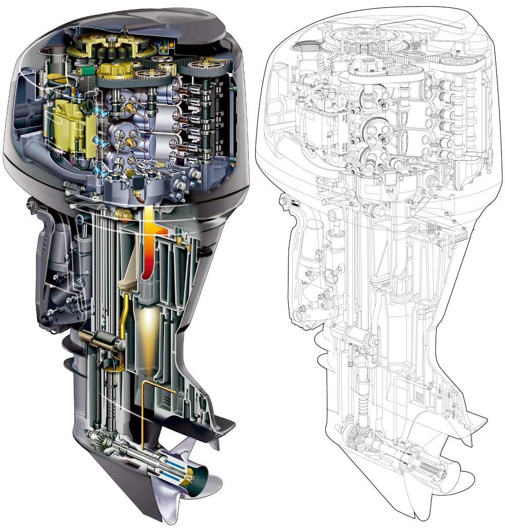 outboard boat engine exploded view - Google Search