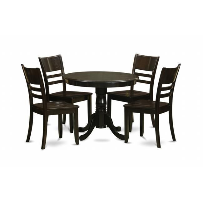 This 5Piece Dinette Set Includes Dining Table And 4 Solid Wood Pleasing Dining Room Chair Set Of 4 2018