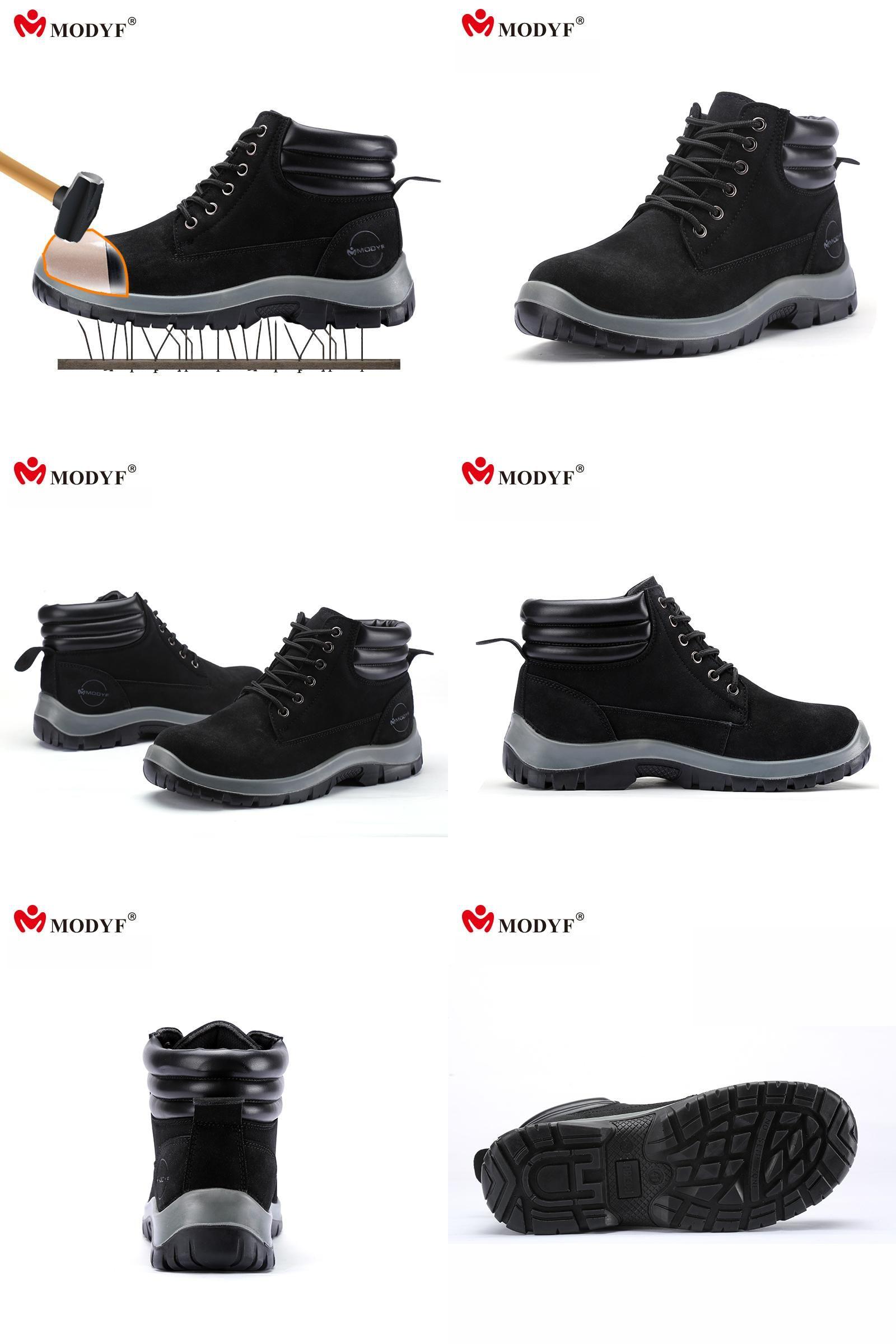 Men's Shoes Modyf Men Steel Toe Cap Work Safety Shoes Outdoor Ankle Boots Fashion Puncture Proof Footwear Online Shop