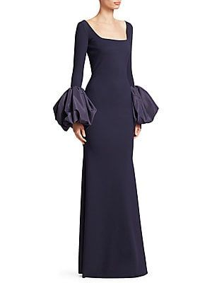 68b3d68830ba Chiara Boni La Petite Robe - Ary Puff Sleeve Column Gown | Shopstyle ...