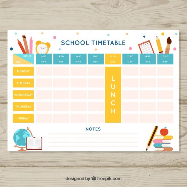 Beautiful School Timetable Template Timetable Template School Timetable Education Templates