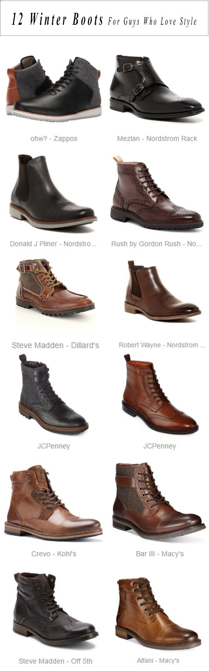 Boots for dresses fashion winter boots for guys who love style