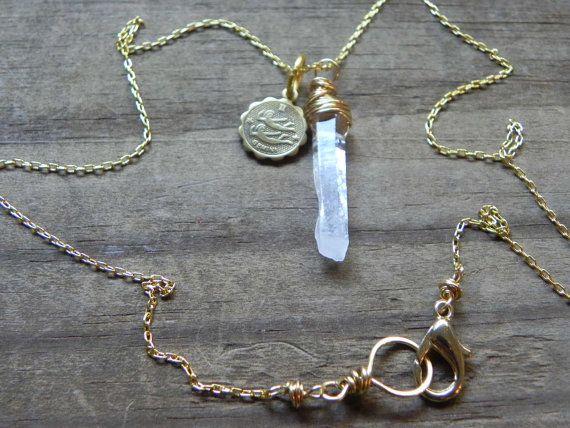 gemini necklace zodiac necklace gold tone gemini by AdrianaSoto