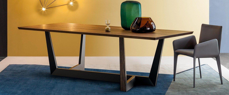 Table Design Art Bonaldo En Bois Et Metal Meuble De France Design De Table Mobilier De Salon