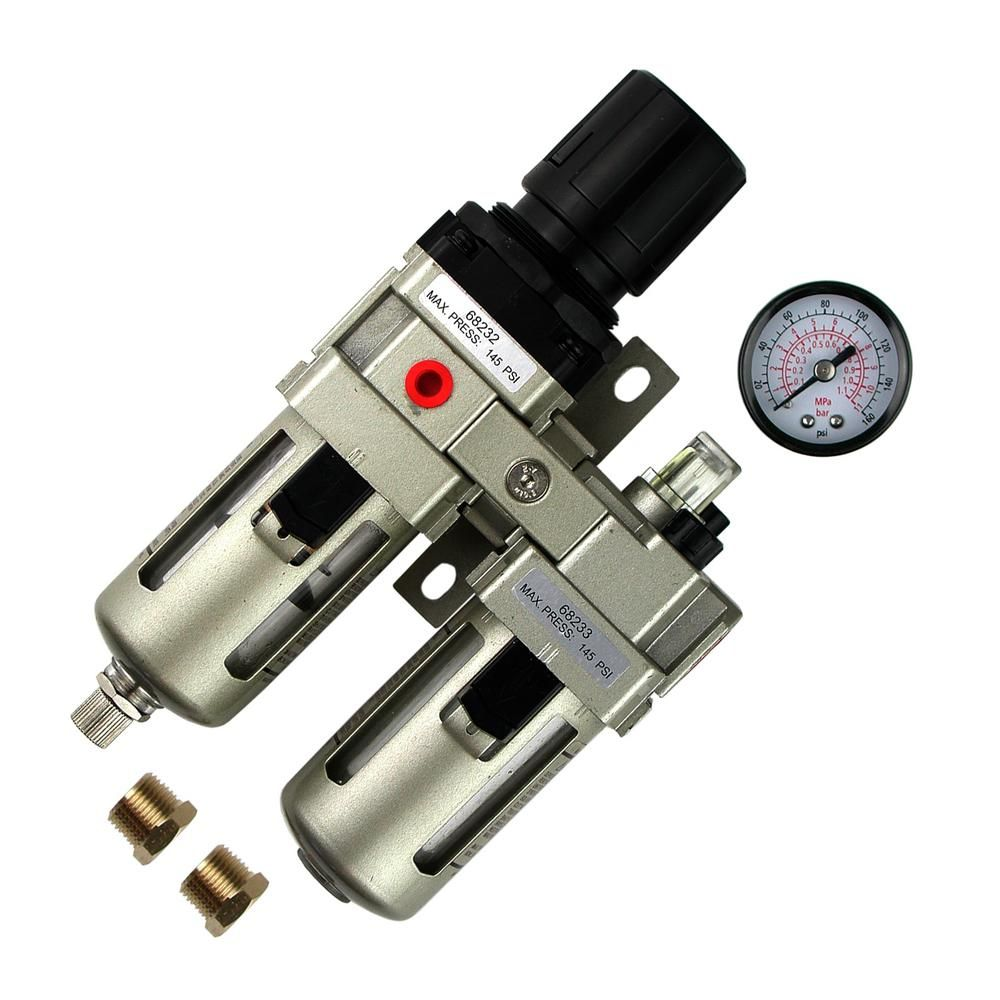 Primefit 3 8 In Filter Regulator Lubricator 3 In 1 Combo With Gauge In 2019 Filters Gauges Pressure Gauge