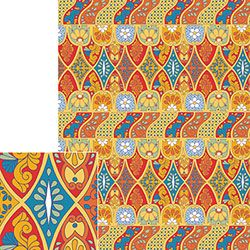 Mexican Tiles Wrapping Paper Flat Sheet $1.25