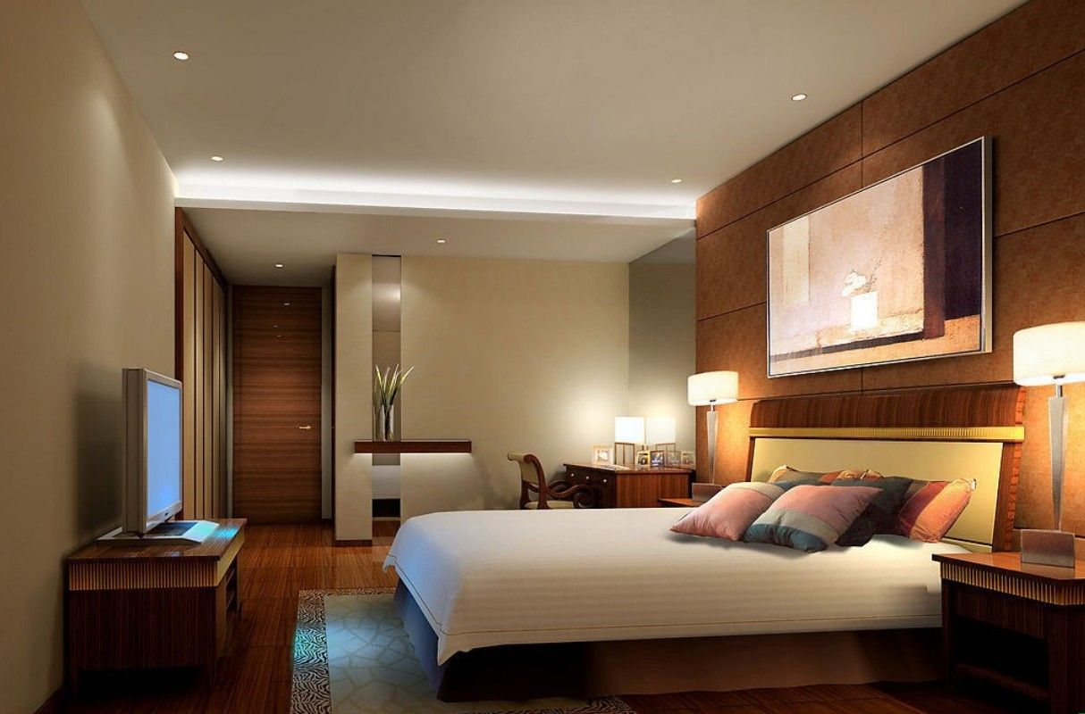 Modern Master Bedroom Walls And Lighting Jpg 1 214 800