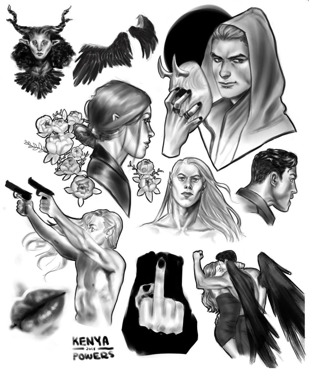 3 3 Crescent City Drawings Inspired By Sarah J Maas Pinterest Board Sarahjmaas Crescentcity City Drawing Crescent City Sarah J Maas