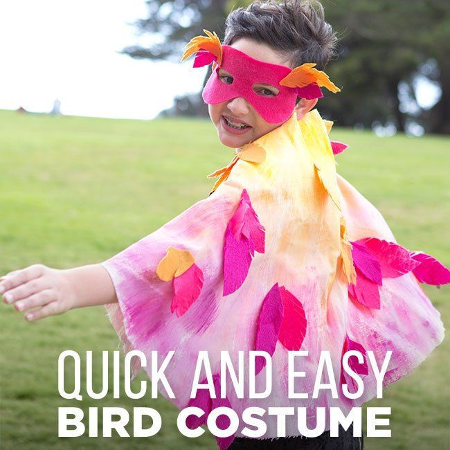 21 Creative And Easy Last Minute Halloween Costumes for kids BIRDS
