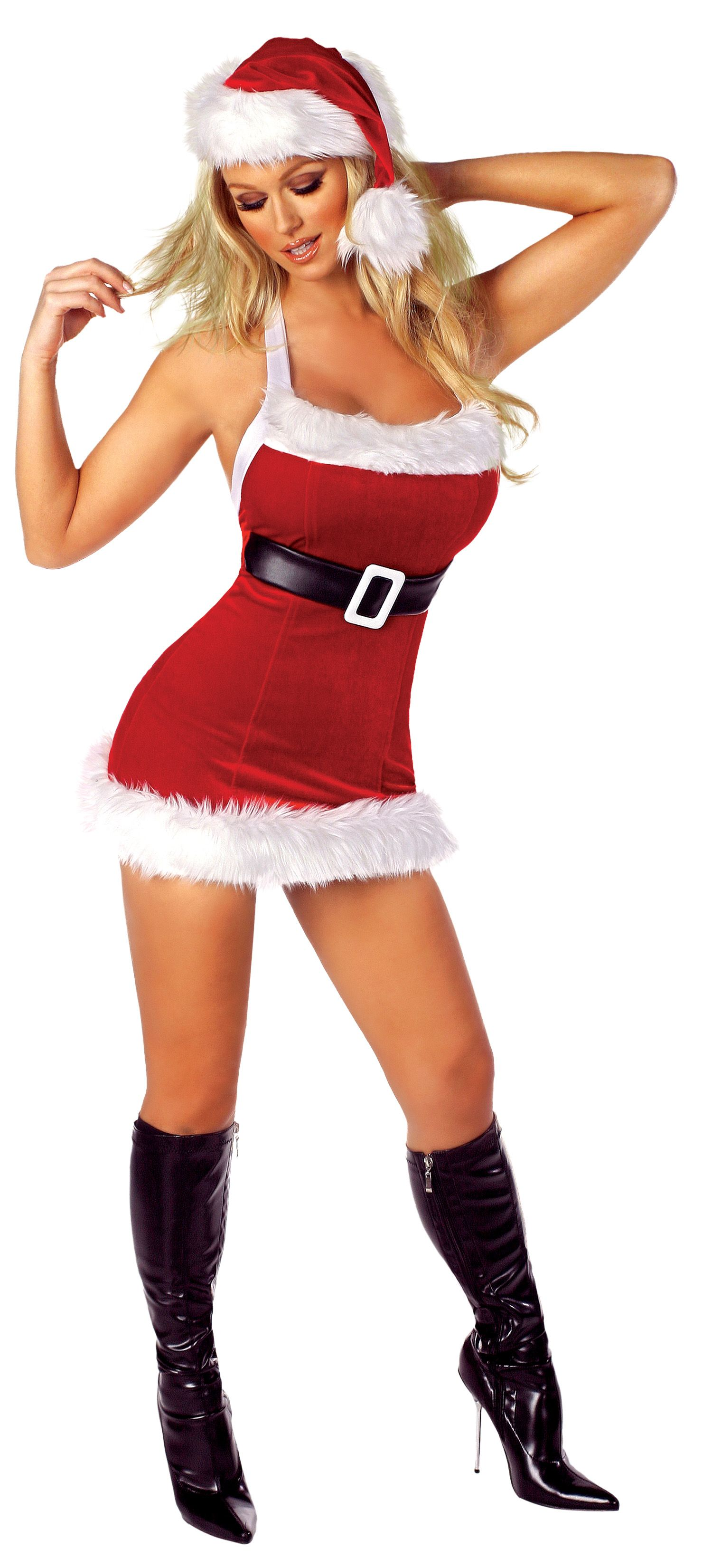 Rm C126 Chic Sexy Santa Costume By Roma Features Fur