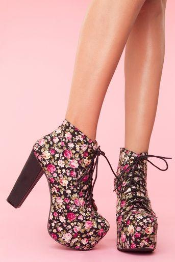 466f233e2249 Lita Platform Boot - Floral (in Black Floral)