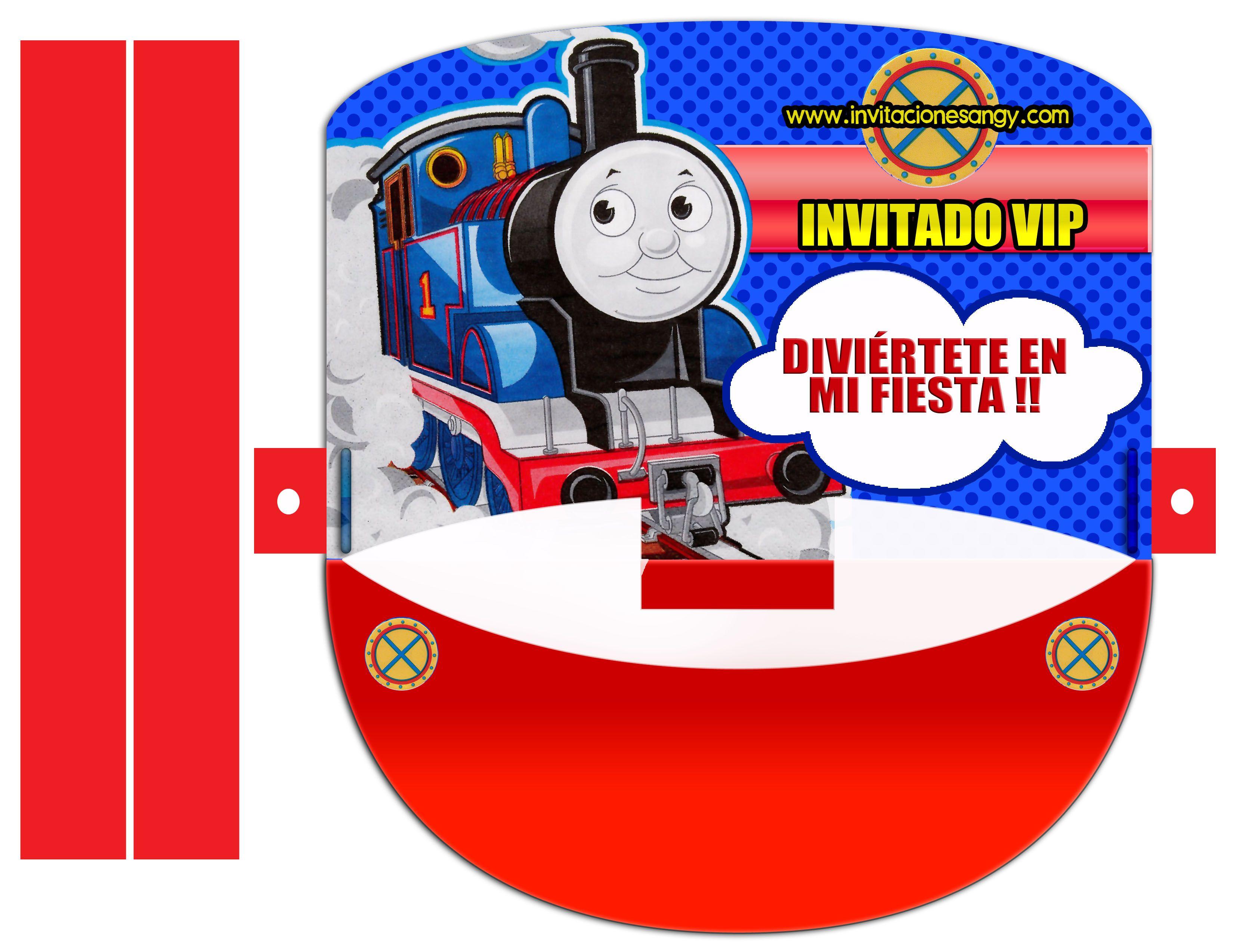 Invitaciones De Thomas Y Sus Amigos Gratisfiestaideas Com Pelauts ...