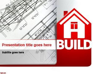 Free House Planning Powerpoint Template With Plans For Engineering