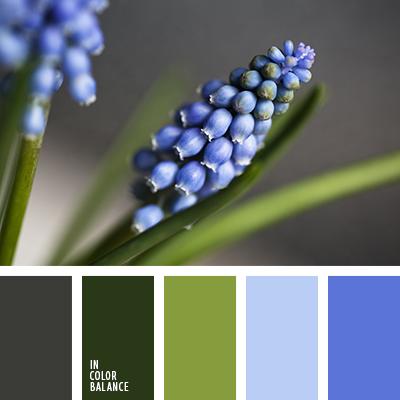 Цветовая палитра №1204    голубовато-белый цвет, зеленый и розовый, нежные оттенки зеленого,