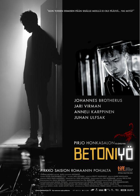 Betoniyö Betoniyö on vuonna 2013 ensi-iltansa saanut Pirjo Honkasalon ohjaama draamaelokuva. Se on elokuvatuotantoyhtiö Bufon tuottama ja se perustuu Pirkko Saision samannimiseen romaaniin vuodelta 1981. Wikipedia Julkaisupäivä: 1. marraskuuta 2013 (Suomi) Ohjaaja: Pirjo Honkasalo Kesto: 96 minuuttia Musiikin säveltänyt: Karl Frid, Pär Frid Käsikirjoitukset: Pirjo Honkasalo, Pirkko Saisi