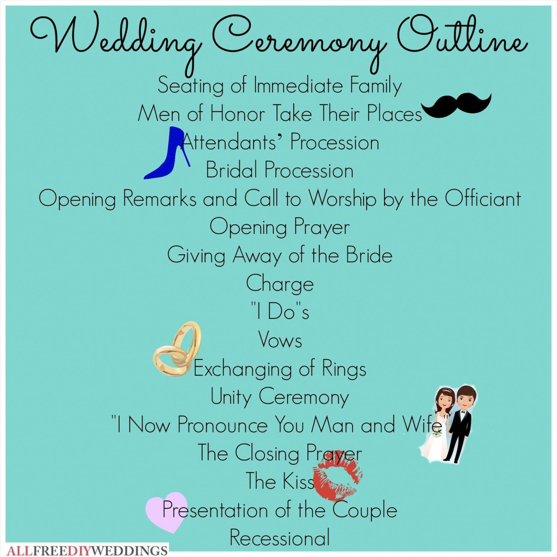 15+ Short wedding ceremony script with own vows ideas