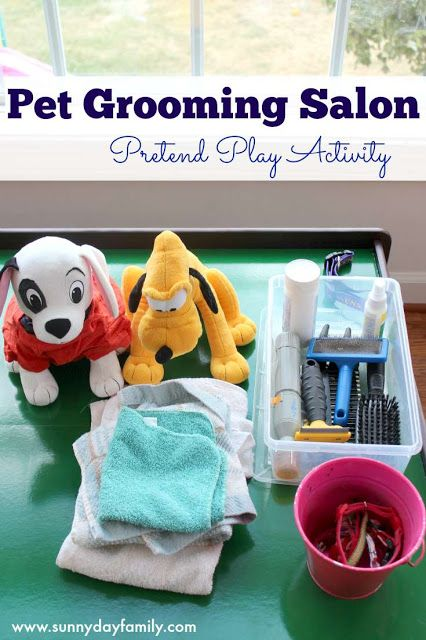 Pet Grooming Salon Pretend Play Activity For Preschoolers Pets Preschool Dramatic Play Preschool Pets Preschool Theme