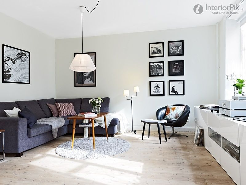 65 Metres Of Nordic Style Small Apartment Living Room