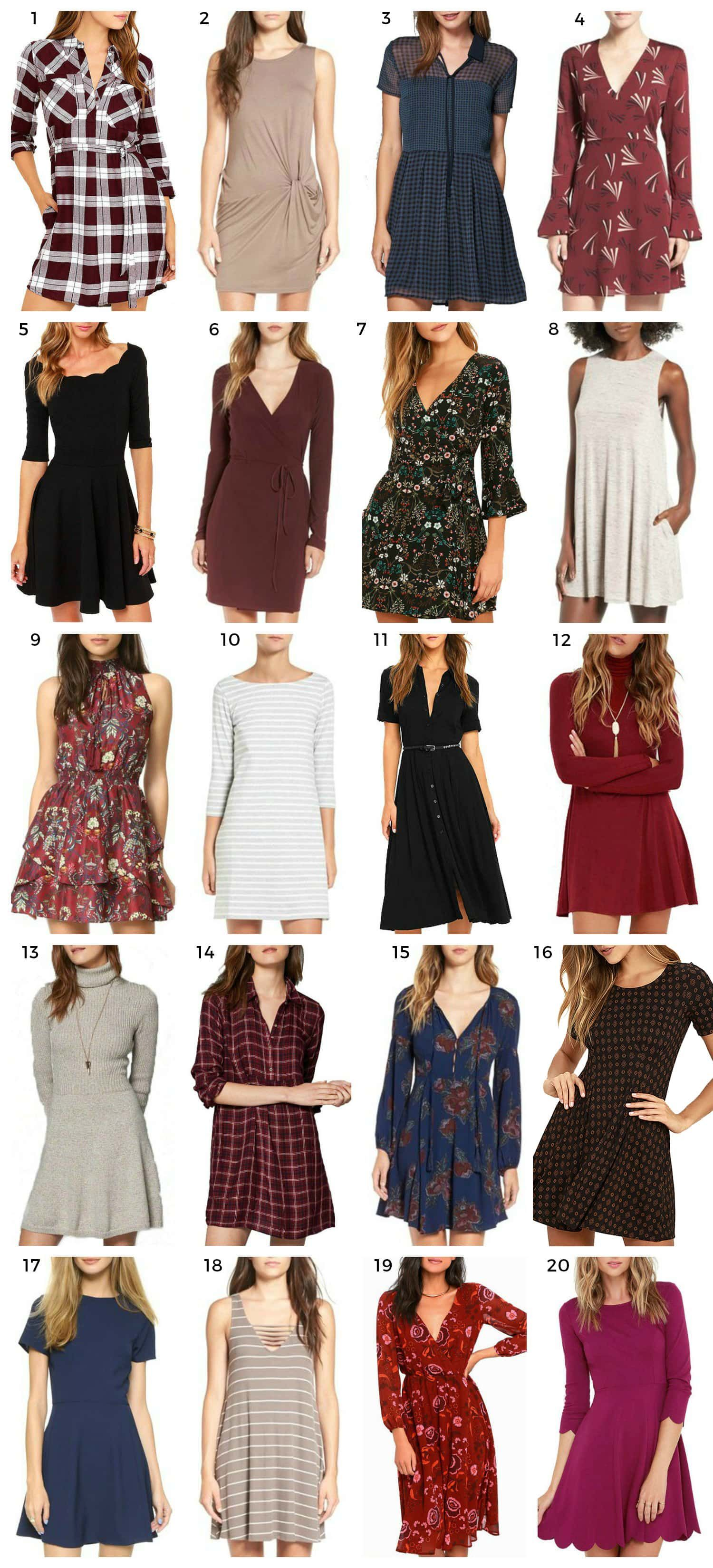 Casual Fall Dresses Under $14  Ashley Brooke Nicholas fall