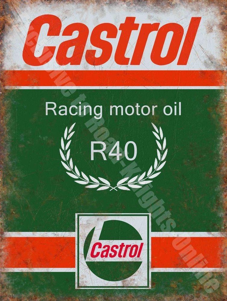 Old Garage Signs : Castrol r racing motor oil petrol old vintage garage