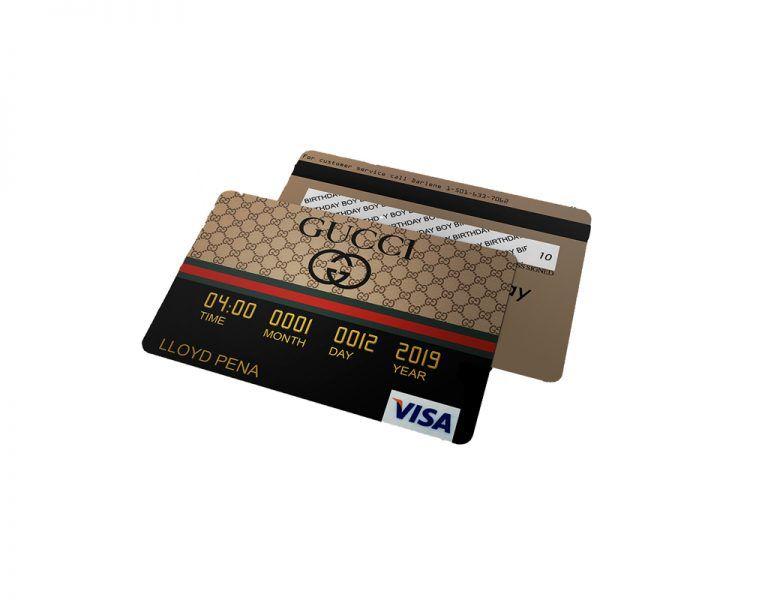 Gucci Credit Card Invitations Gucci Birthday Gucci Party Designer Party In 2021 Invitation Cards Debit Card Design Cards