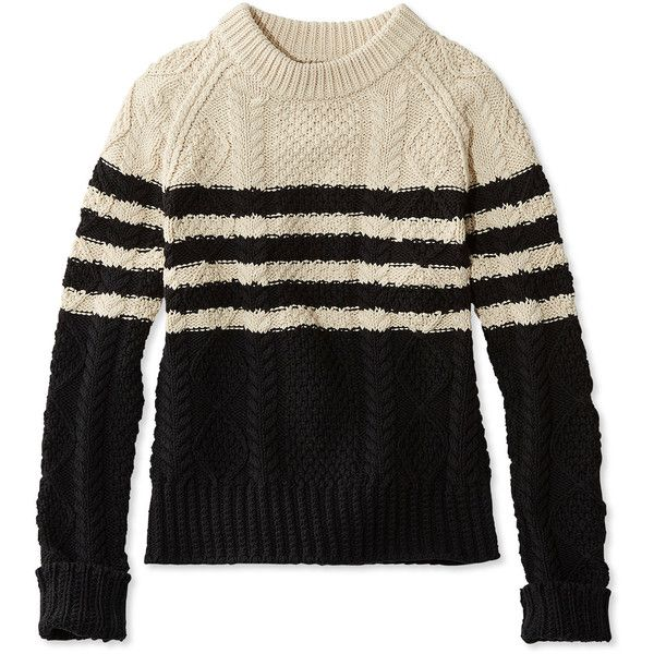 L.L.Bean Signature Signature Cotton Fisherman Sweater, Marled ...