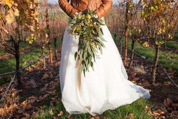 Northwest Vineyard Styled Shoot Fall Wedding Dresses Bride