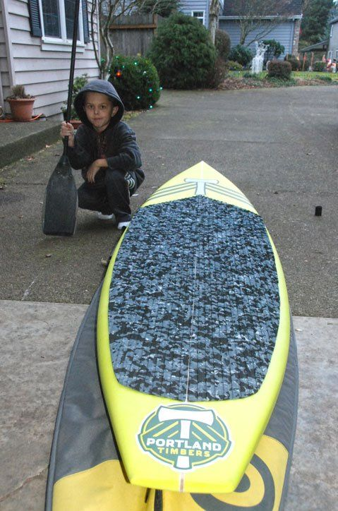 Awesome Timbers paddle board-via Kim Rueter. #RCTID #portlandtimbers