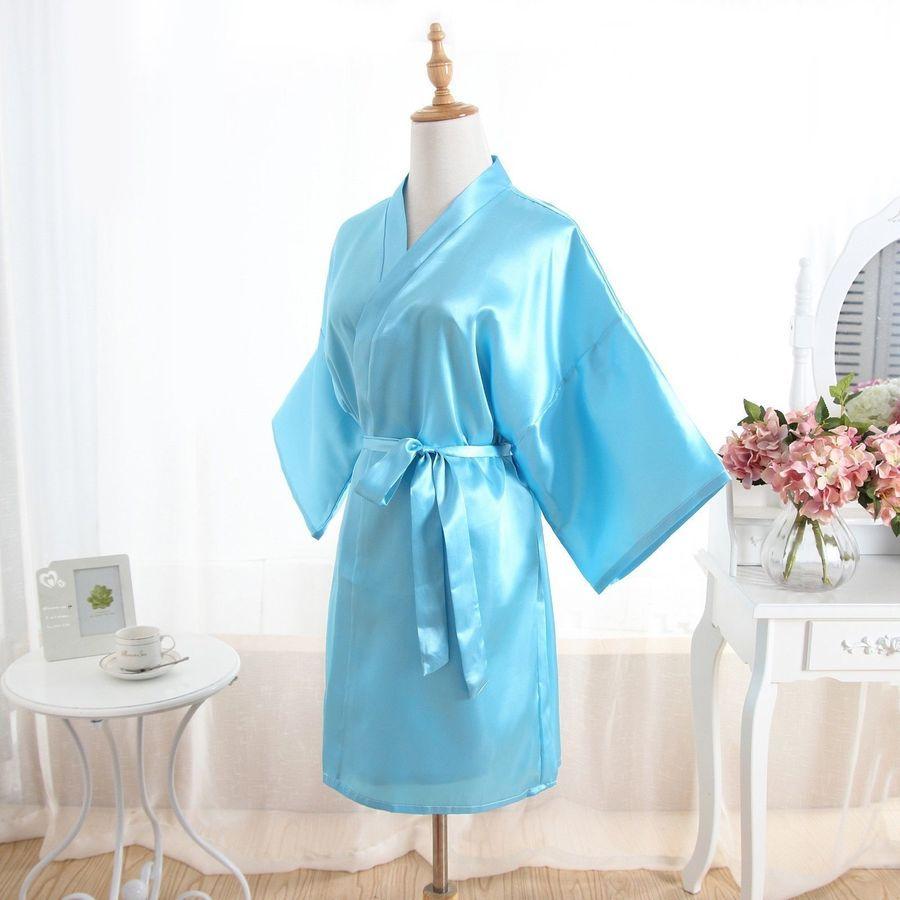 af06f3944b Hot Solid Women robe Silk Satin Robes Wedding Bridesmaid Bride Gown kimono  robe robe