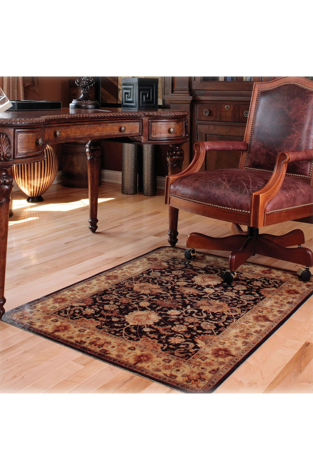 Deflecto Decorative Harbor Pointe Chair Mat For Hard
