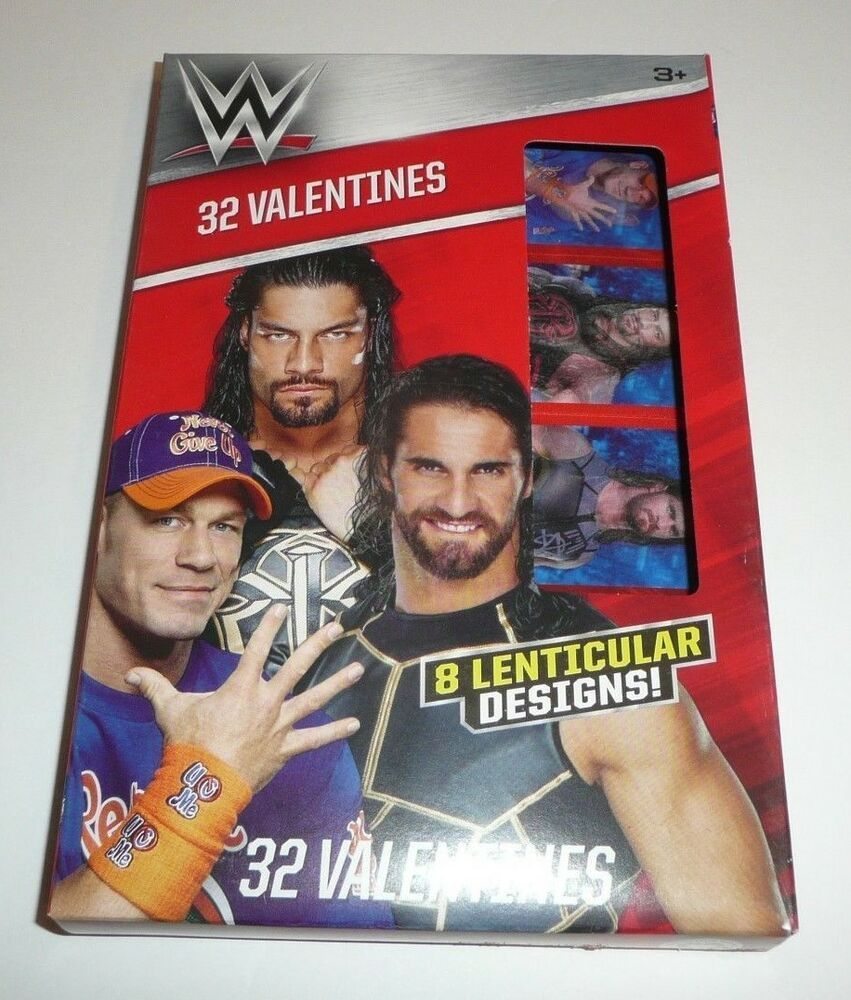 Box of 34 Valentines Day Cards W Wrestling John Cena with Stickers