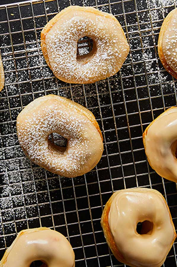 Air Fryer Maple Glazed Donuts are a quick & easy breakfast