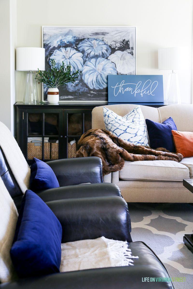 e1a19efb58f Simple Fall Decor Updates | Living Room Design Ideas | Decor, Fall ...