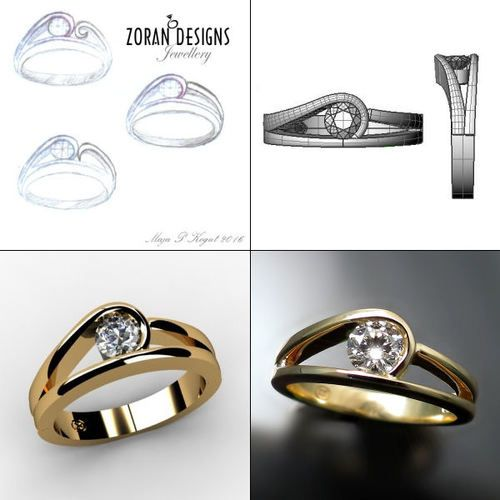 6205f1873ac50d Custom jewellery design: from sketches to complete ring Zoran Designs - Hamilton  Toronto Niagara ON