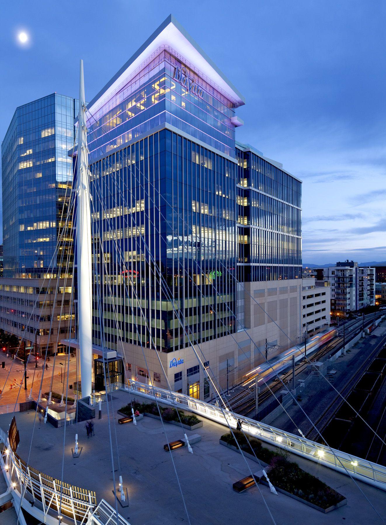 Davita headquarters streetscape design davita skyscraper