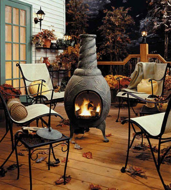 Patio Deck Design Ideas Cast Iron Fireplace Small