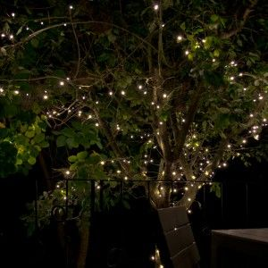 Everbright Solar Fairy Lights Warm White 300 Led Lighting