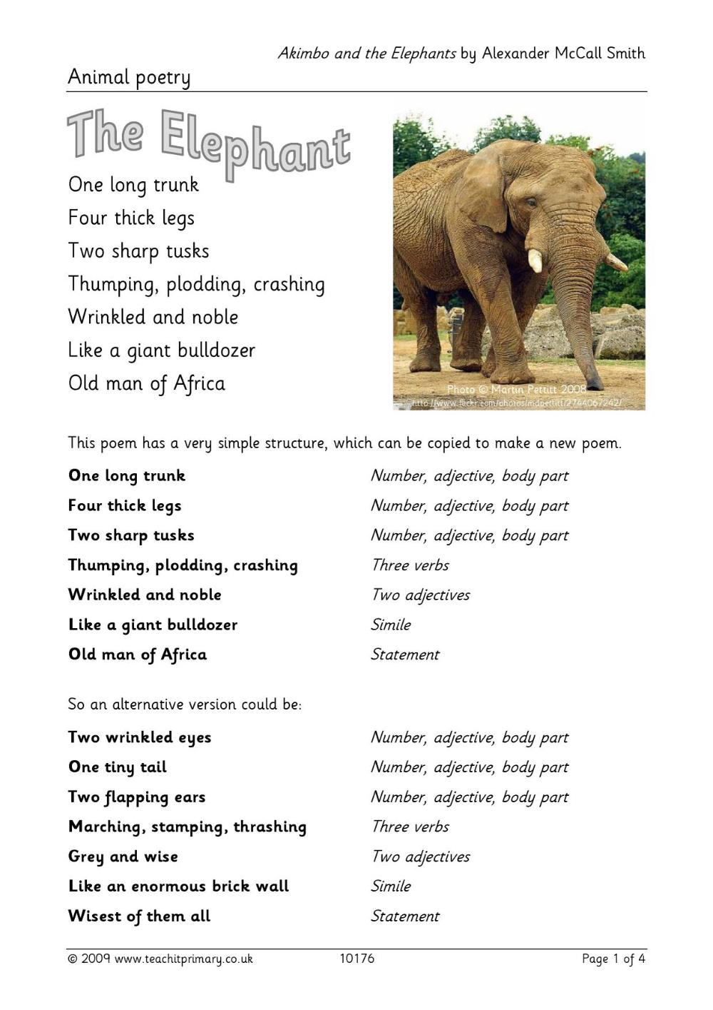 Animal poetry  Elmer the elephants, Elephant, Differentiation
