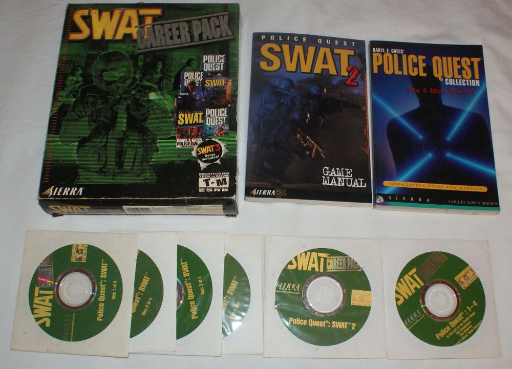 SWAT: Career Pack Swat 2 Police Quest Big Box PC Game Windows 98/95